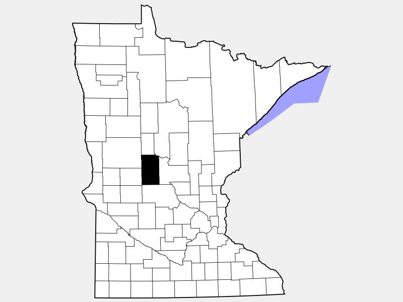 Todd County locator map