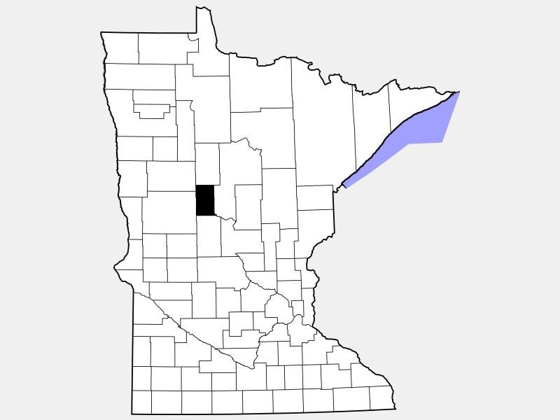Wadena County locator map