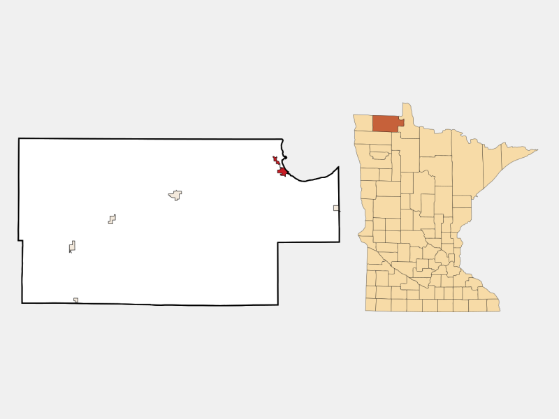 Warroad location map