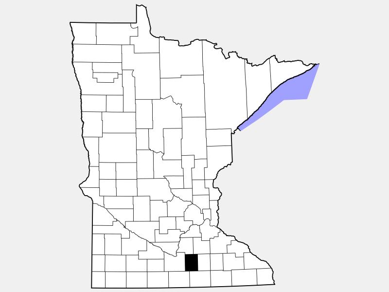 Waseca County locator map