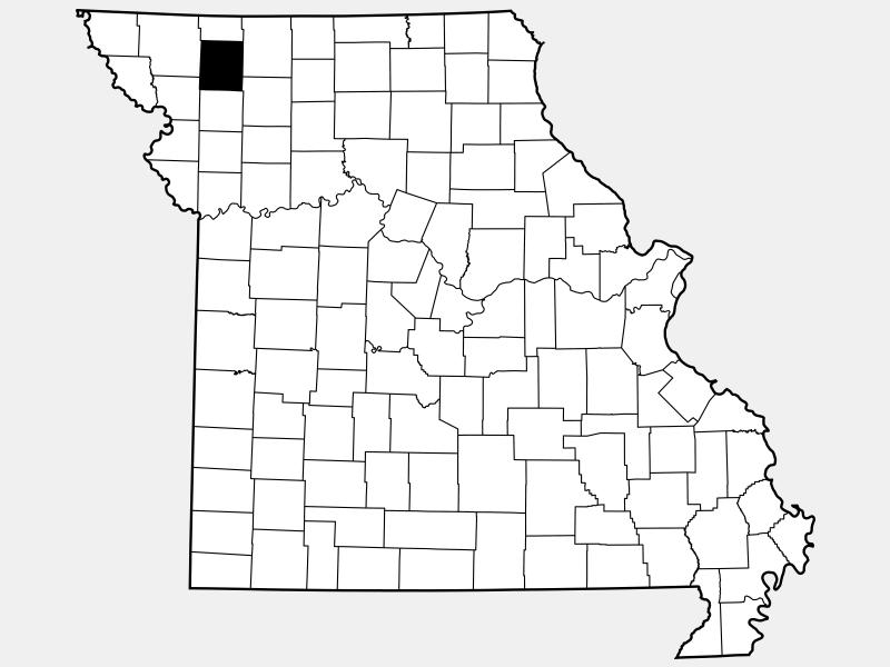 Gentry County locator map