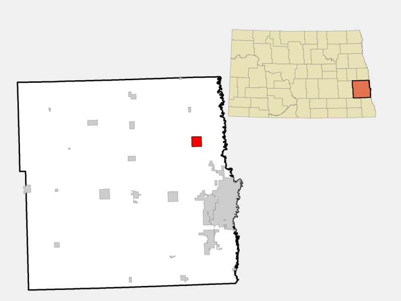 Argusville locator map