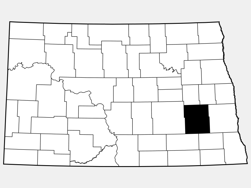 Barnes County locator map