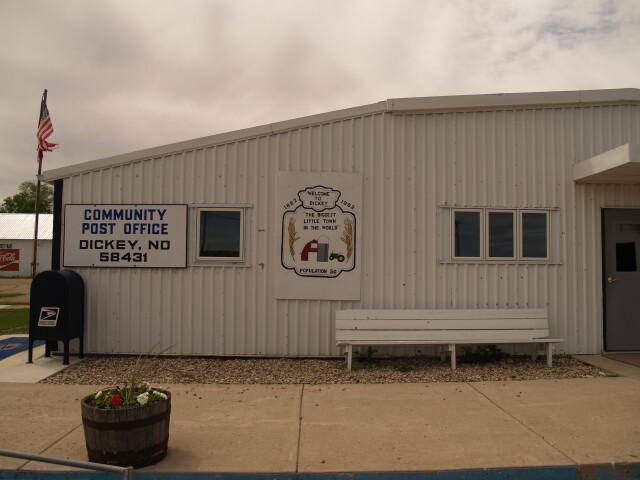 Post office in Dickey  North Dakota 6-8-2008 image