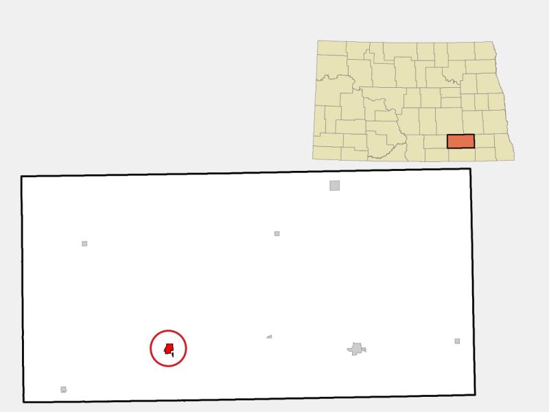 Edgeley locator map