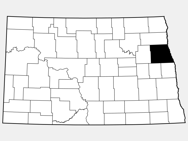 Grand Forks County locator map