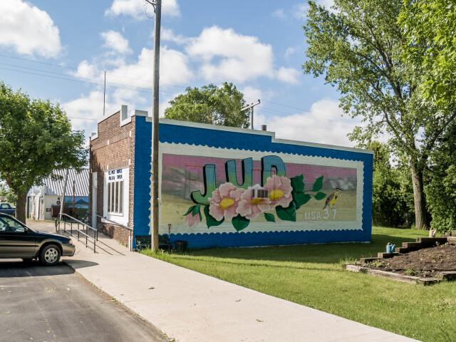 Post office in Jud  North Dakota 6-13-2008 image