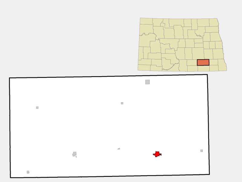 LaMoure locator map