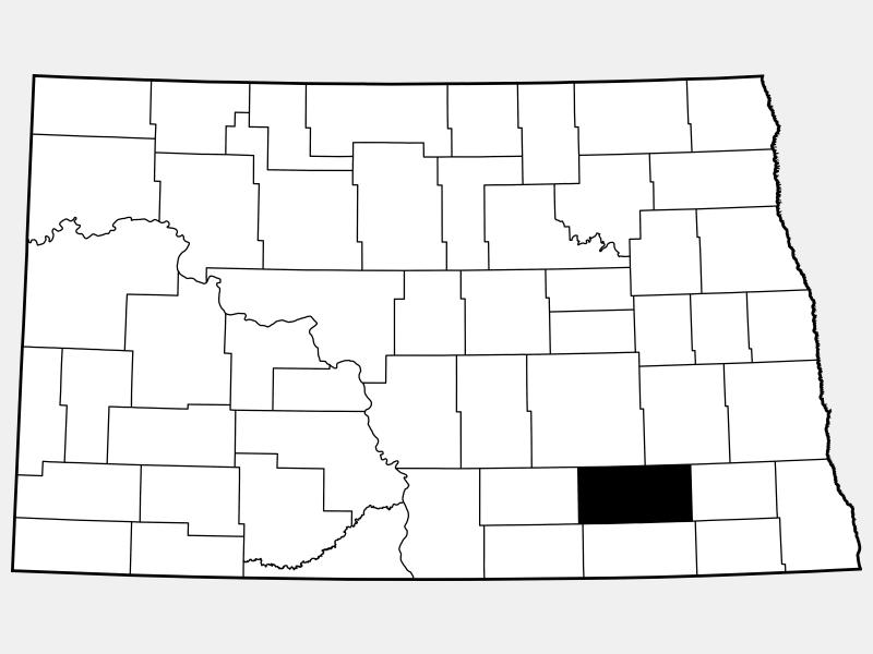 LaMoure County locator map