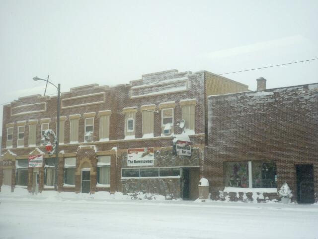 Napoleon ND - downtown snow image