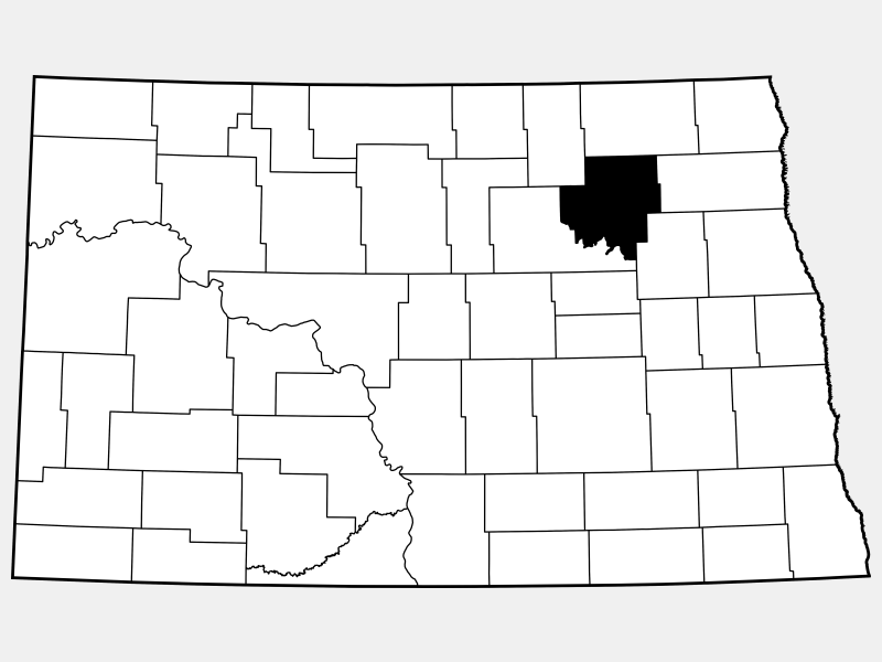 Ramsey County locator map