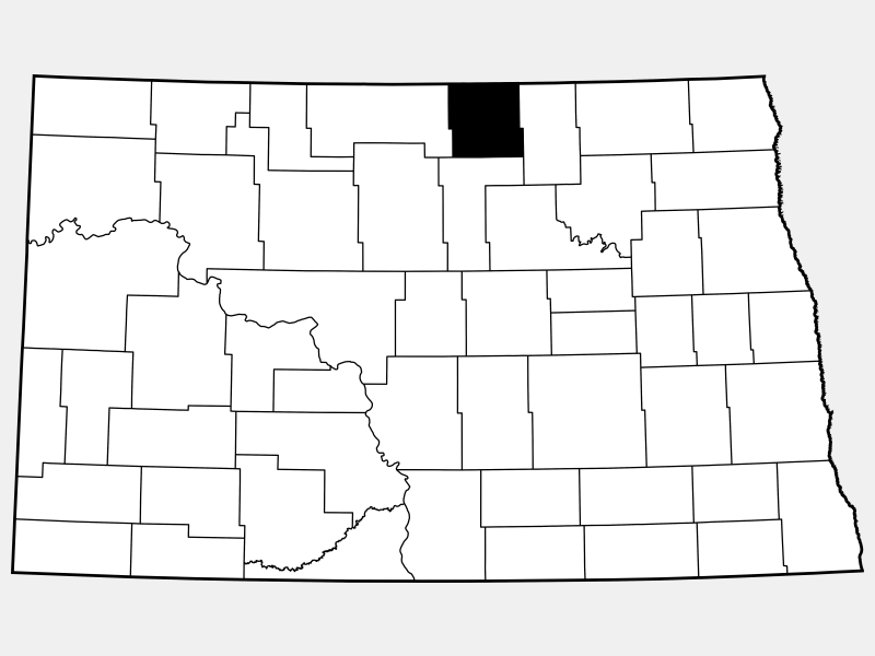 Rolette County locator map