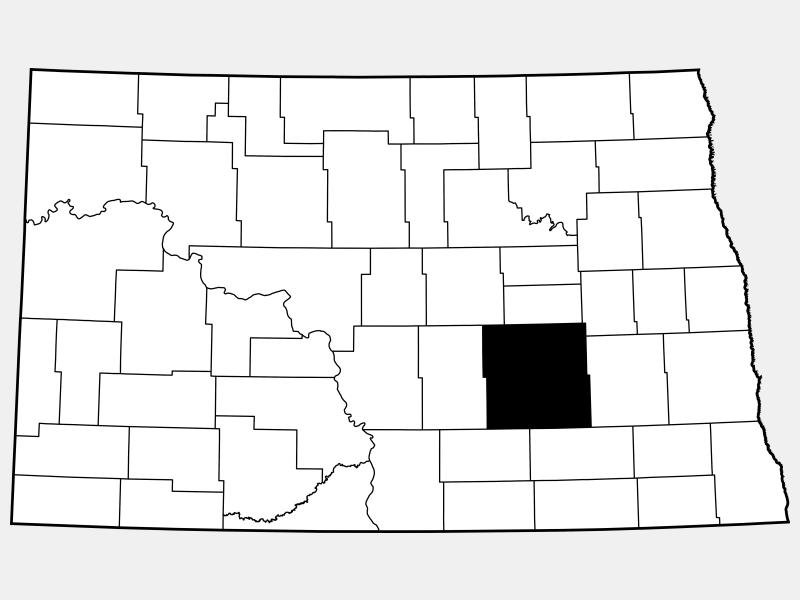 Stutsman County locator map