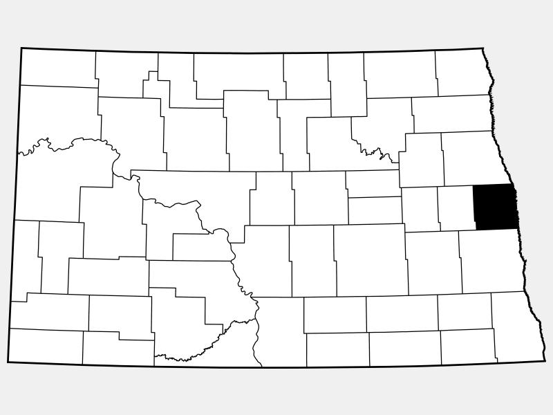 Traill County locator map