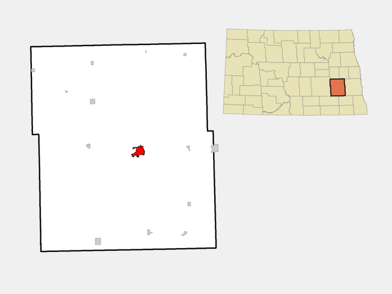 Valley City locator map