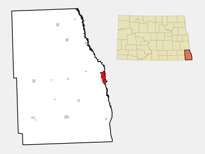 Wahpeton locator map