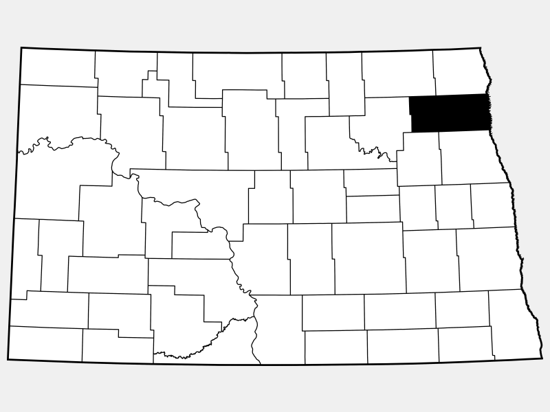 Walsh County locator map