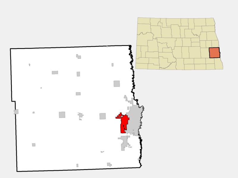 West Fargo locator map