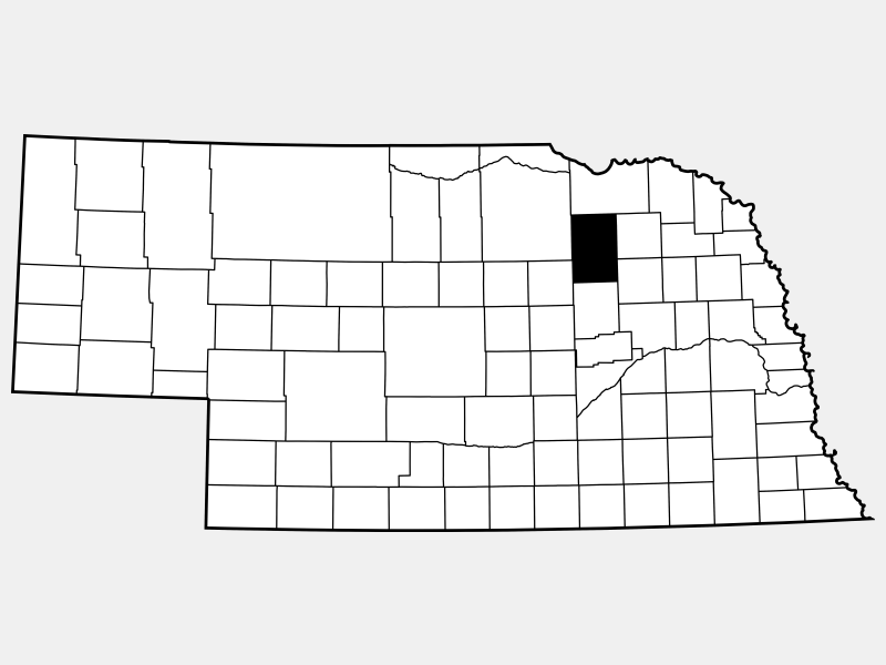 Antelope County location map