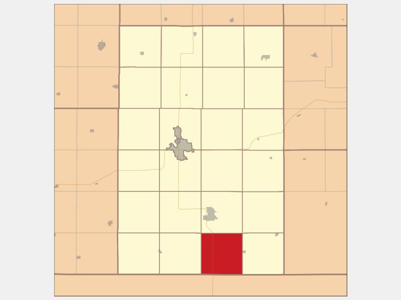 Barneston locator map