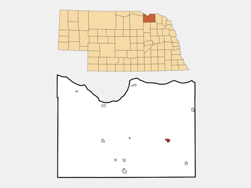 Bloomfield locator map
