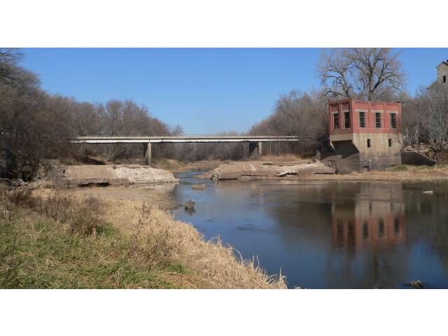 Blue Springs  Nebraska dam and bridge image