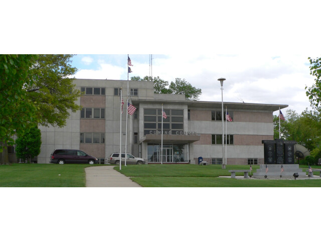 Cuming County Courthouse 'Nebraska' from W 1 image