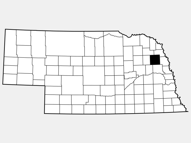 Cuming County locator map