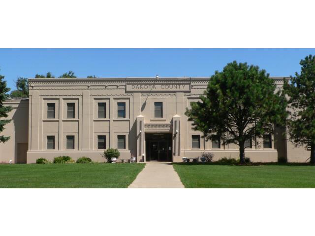 Dakota County Courthouse 'Nebraska' 3 center image