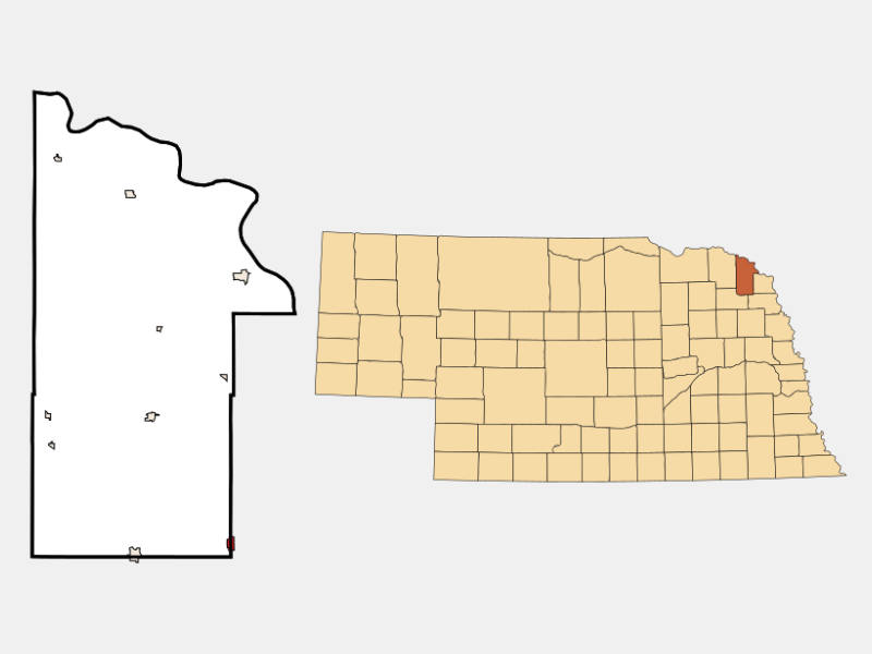 Emerson, NE locator map
