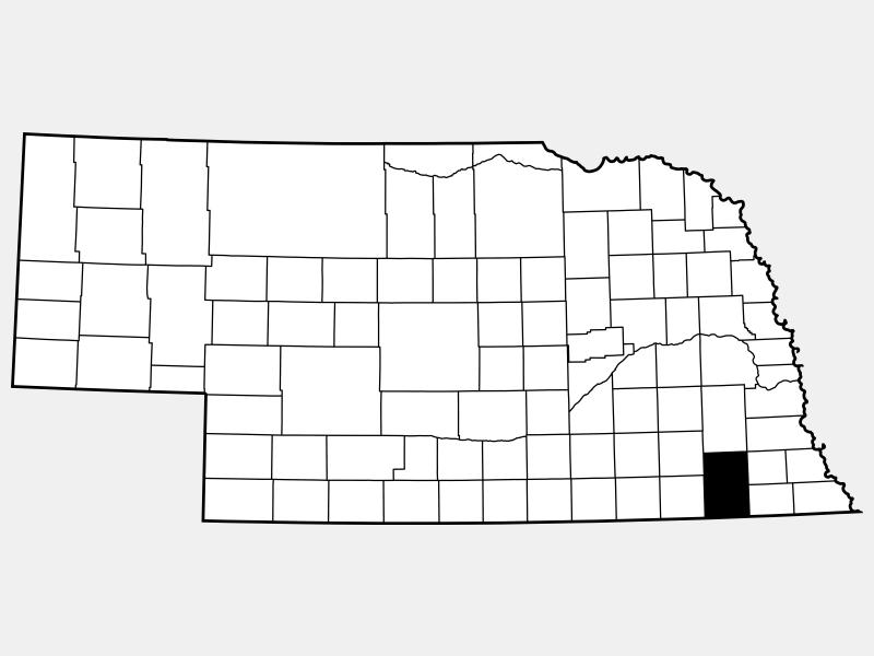 Gage County locator map
