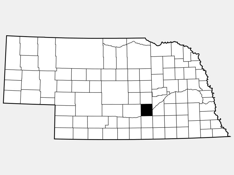 Hall County locator map