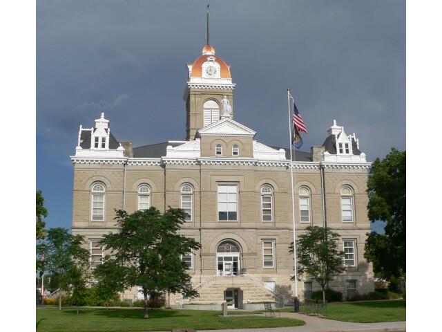 Jefferson County  Nebraska courthouse from E image