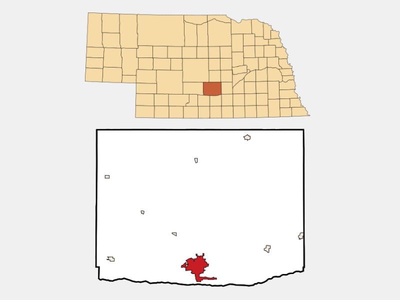 Kearney locator map