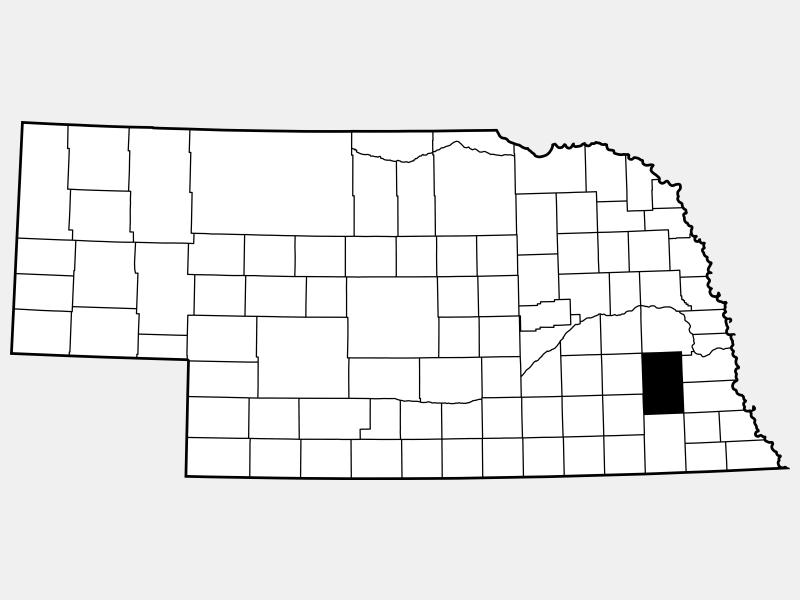 Lancaster County locator map