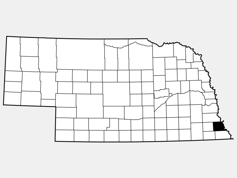 Nemaha County locator map