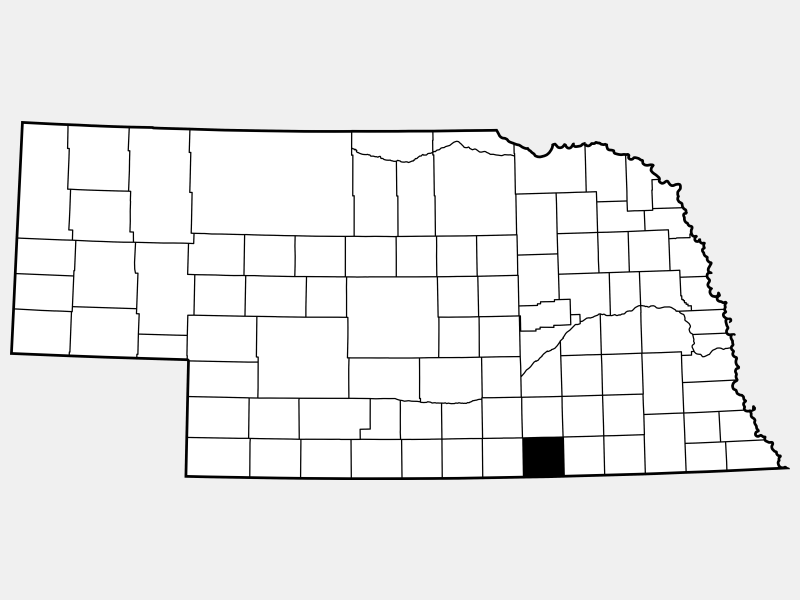 Nuckolls County locator map