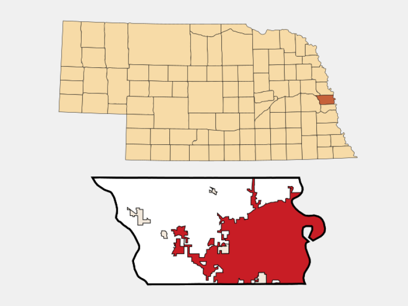 Omaha locator map