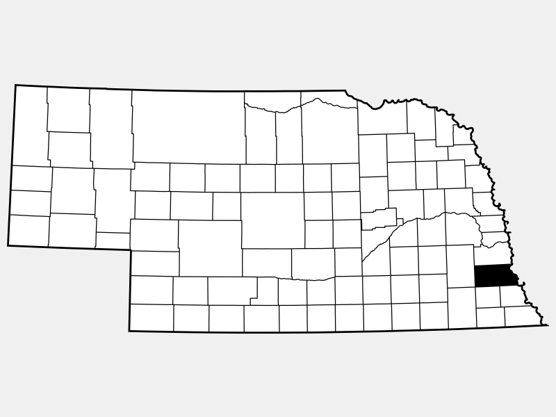 Otoe County locator map