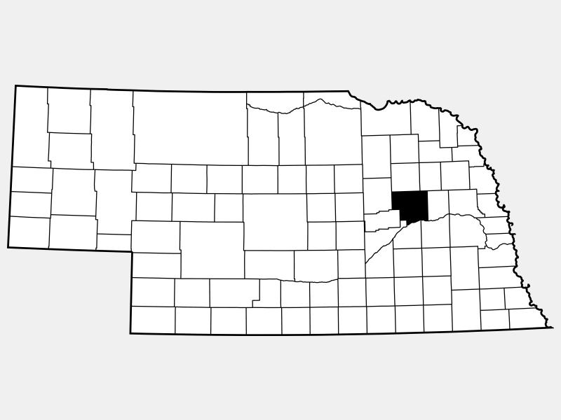 Platte County locator map