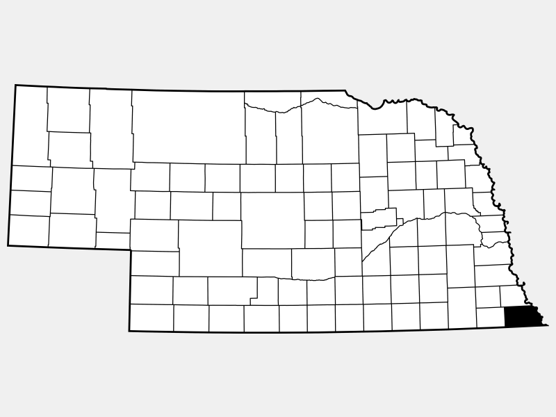 Richardson County locator map