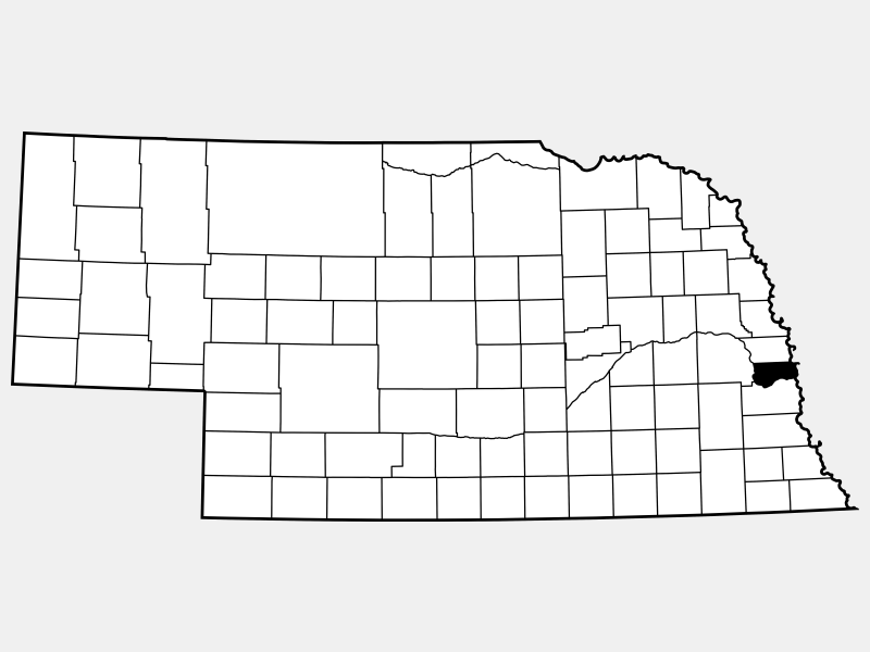 Sarpy County locator map