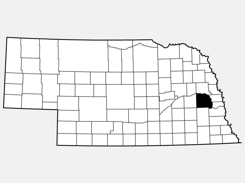 Saunders County locator map