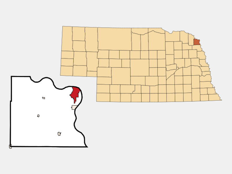 South Sioux City location map