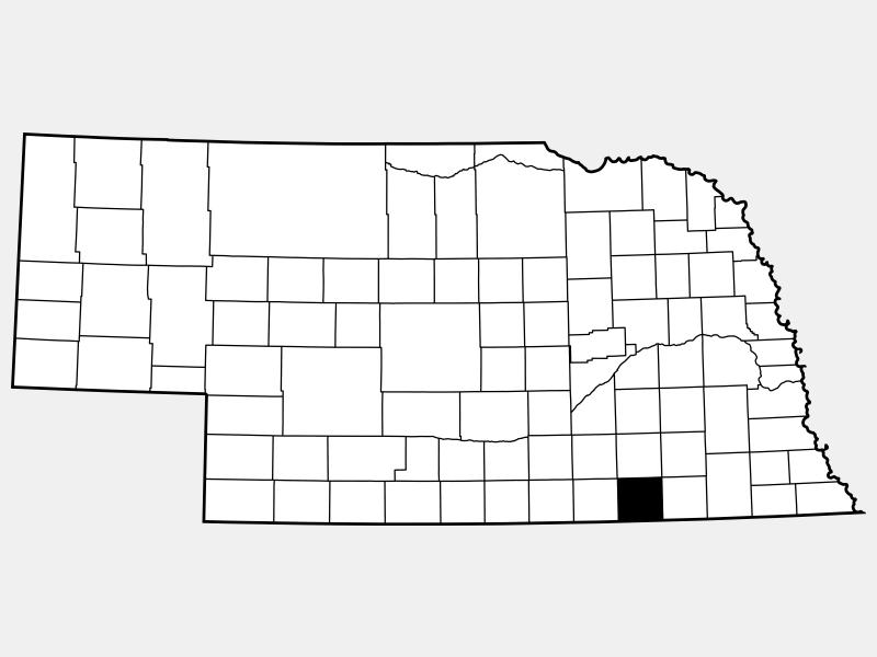 Thayer County locator map