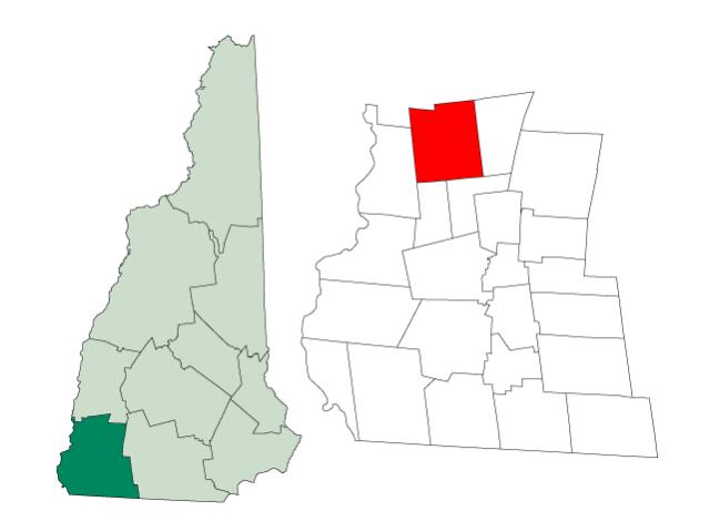 Alstead locator map