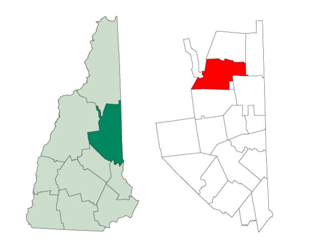Bartlett locator map