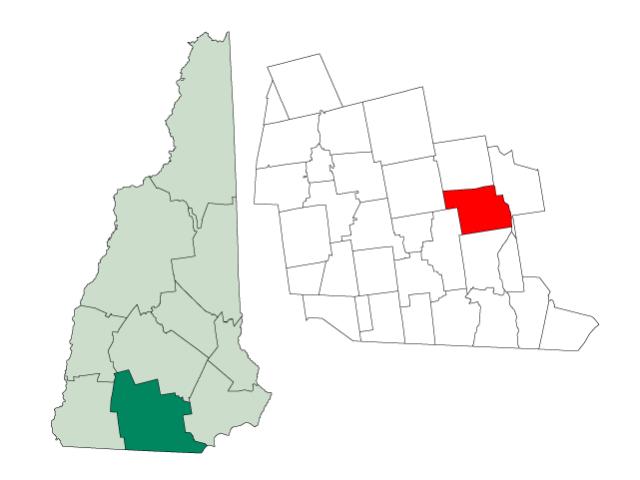 Bedford locator map