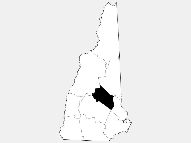 Belknap County locator map