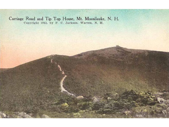 Carriage Road and Tip Top House  Mount Moosilauke  NH image